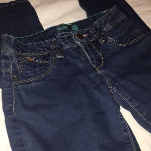 Dark wash juniors denim jeans size 3 YMI